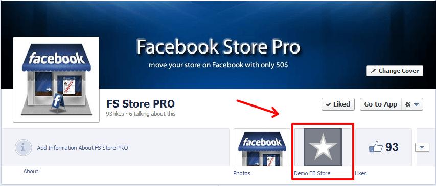 facebook store tab