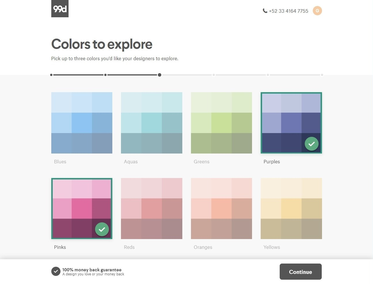 99designs color palettes