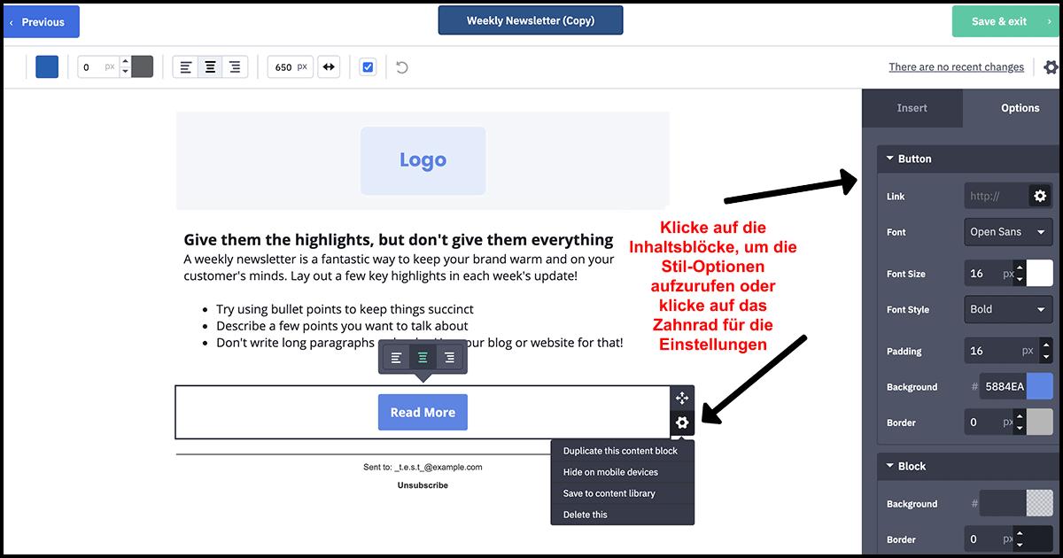 ActiveCampaign drag and drop editor_DE 3