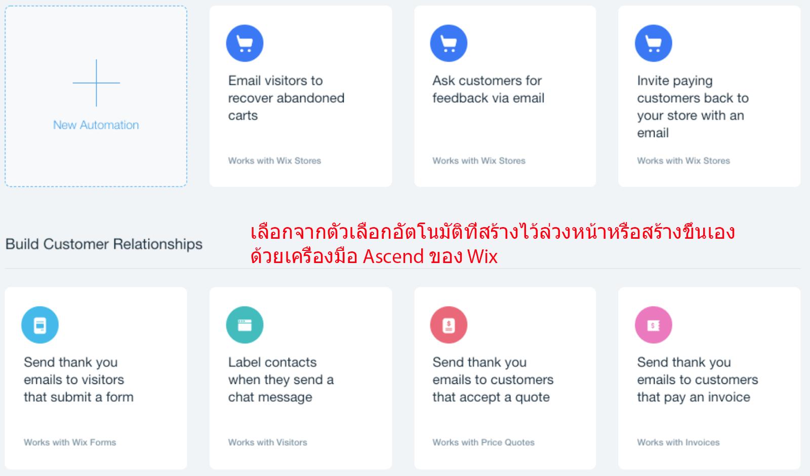 Automation tasks Ascend by Wix_thai