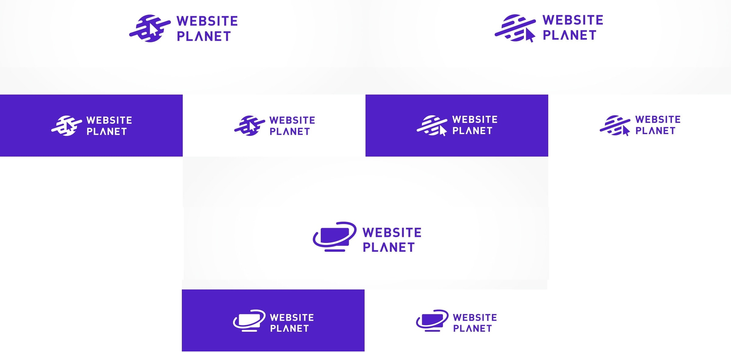 Website Planet logos from DesignCrowd