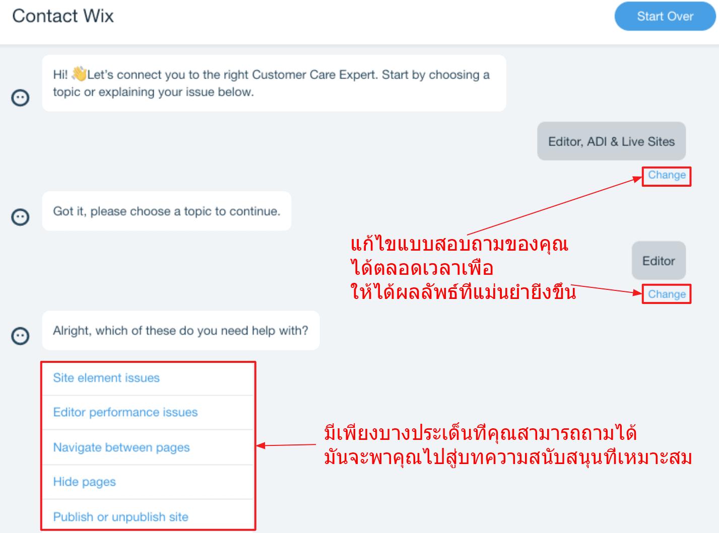 Support chatbot Wix_thai