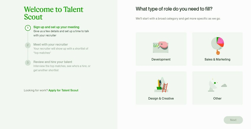 Upwork Review - Talent Scout