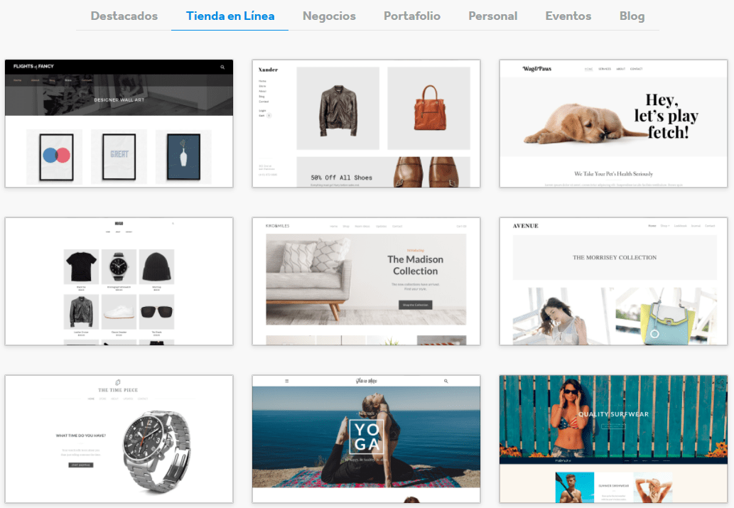 Weebly online store templates