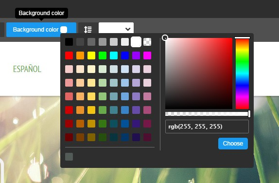 Customize Your Jimdo Background With Colour & Images