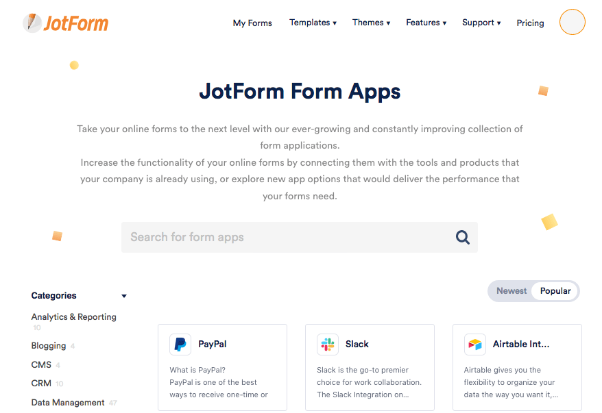 JotForm screenshot - Form Apps
