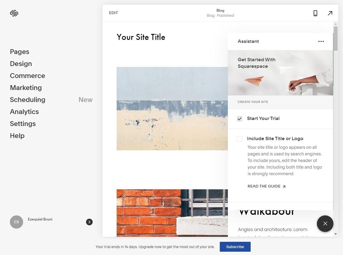 Squarespace - free trial