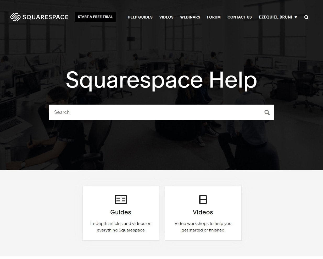 Squarespace - support page