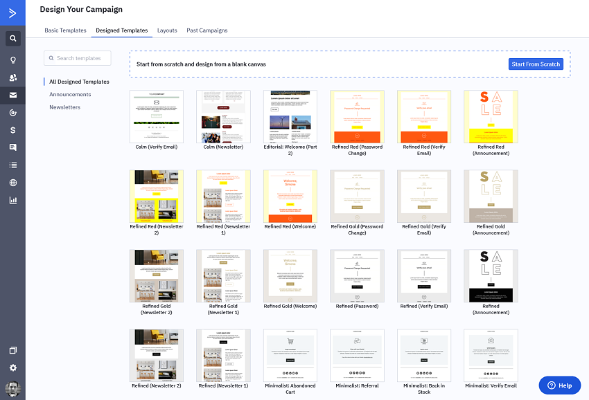ActiveCampaign's email templates