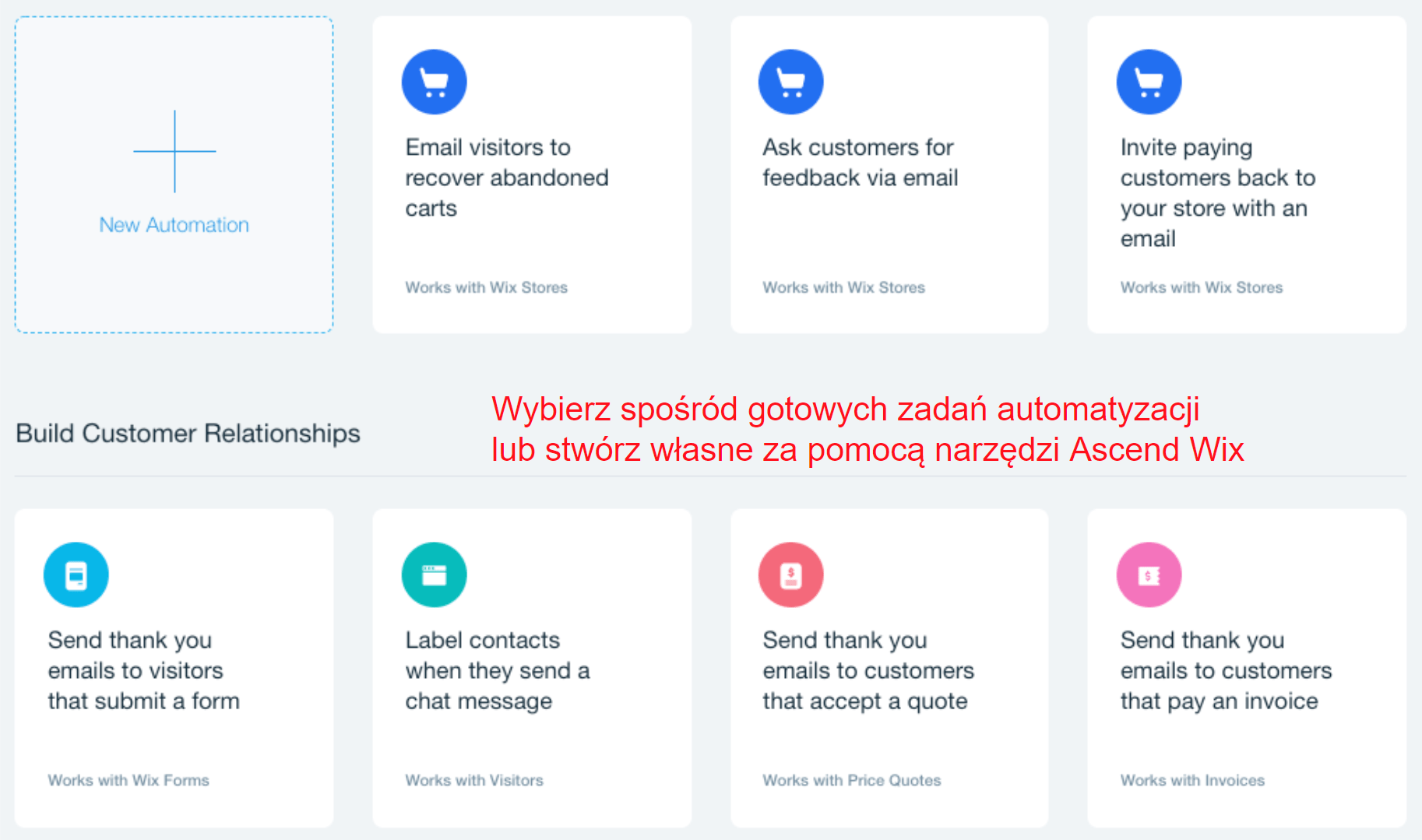 Automation tasks - Ascend by Wix