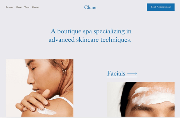 Squarespace Clune template