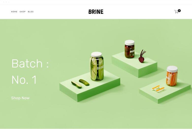 Squarespace Brine template