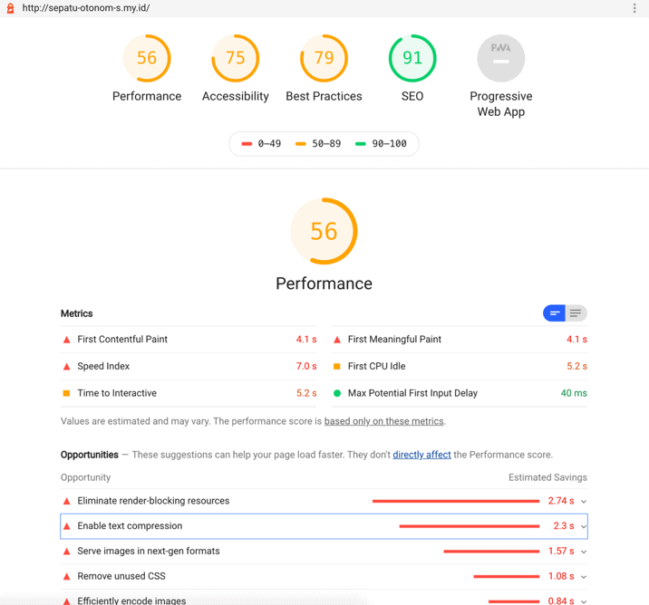 Performa hosting exabytes Indonesia