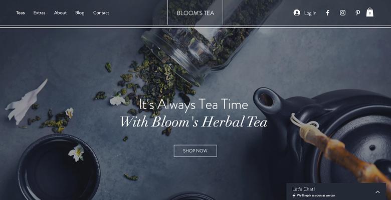 Wix - Tea Shop template