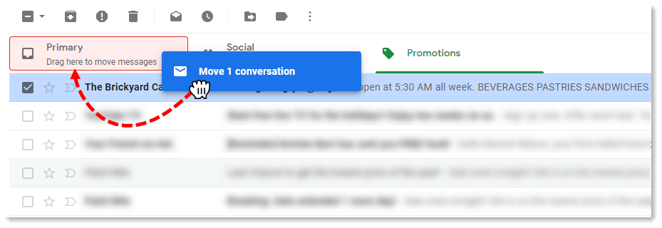 Get added to Google Primary inbox