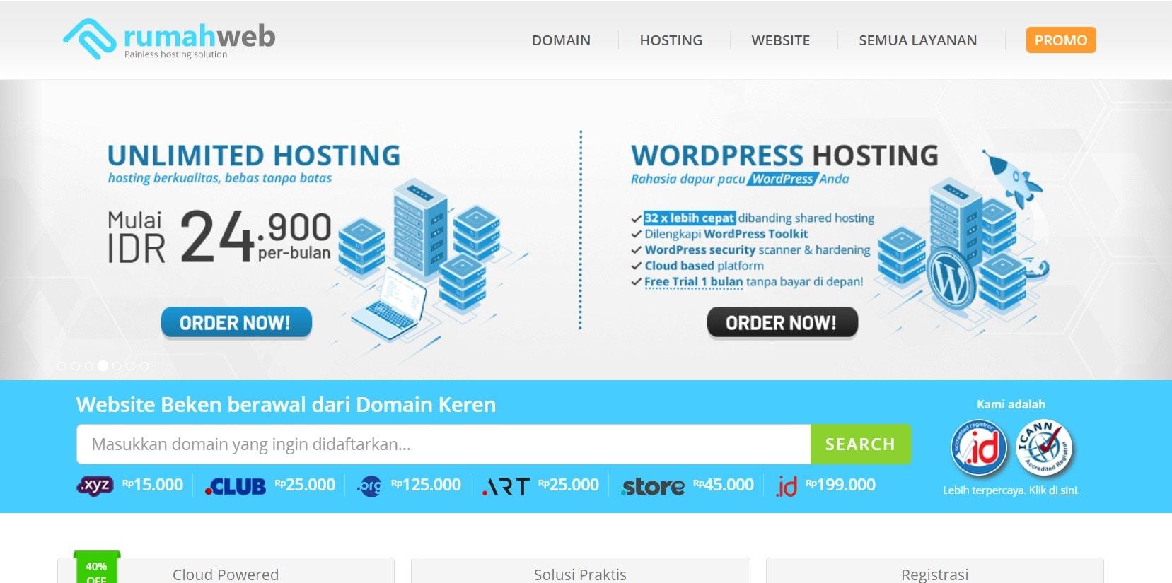 review rumahweb hosting