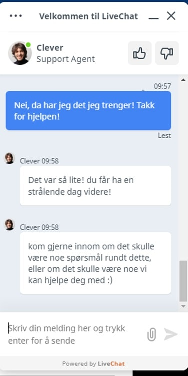 Webhuset chat support
