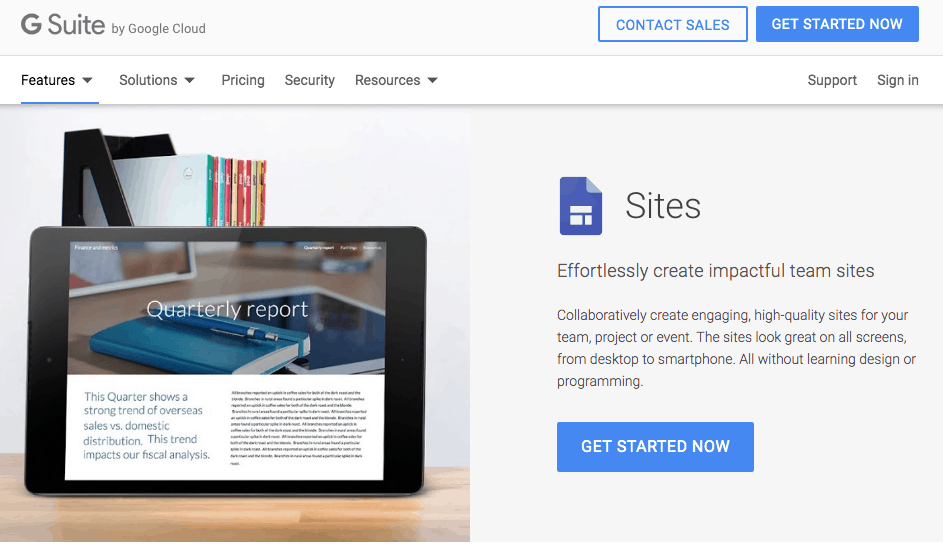 Google Sites Pricing