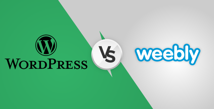 WordPress contra Weebly