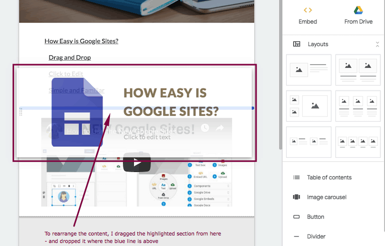 Google Sites Ease of Use