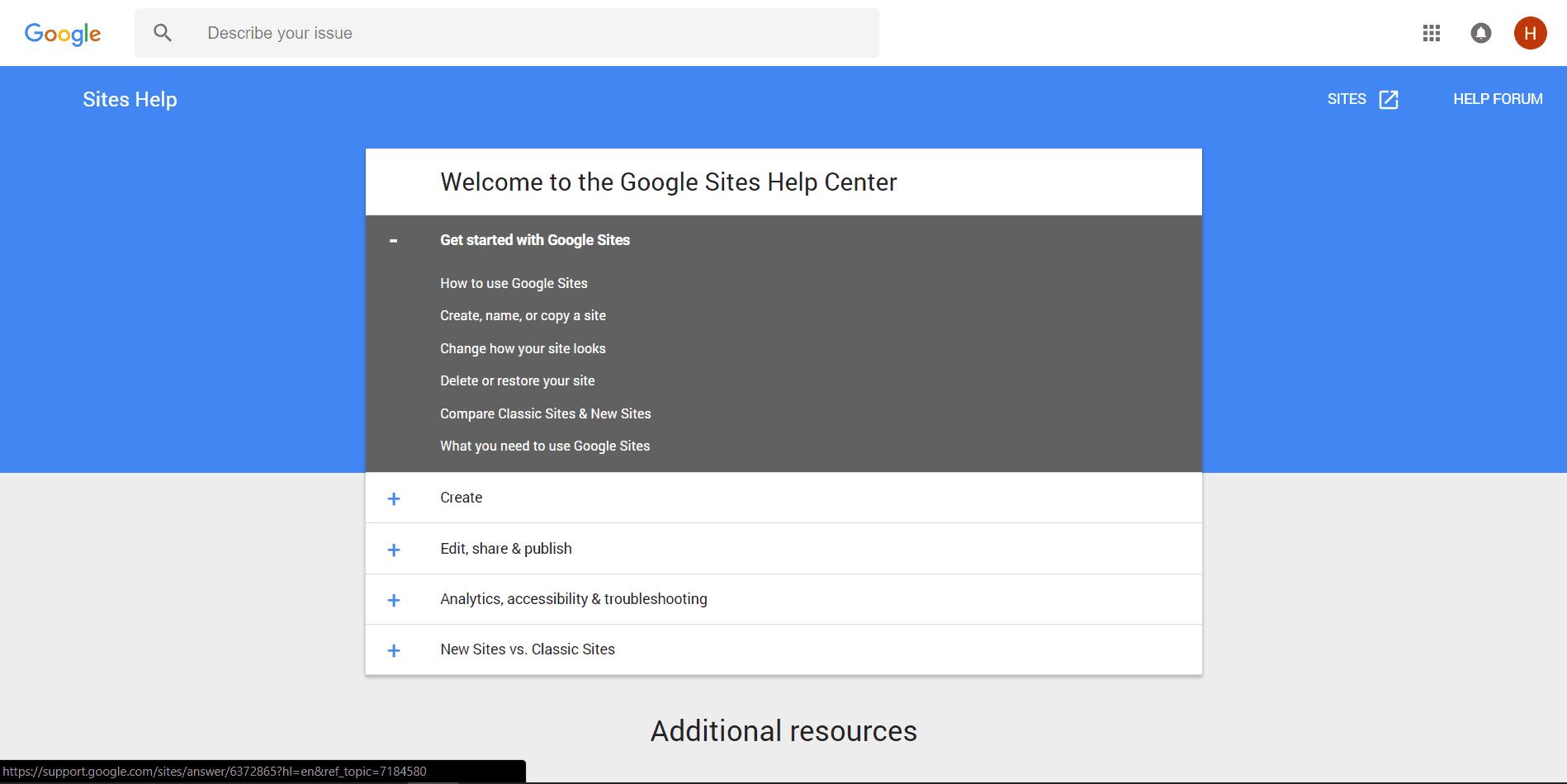 googlesites-support