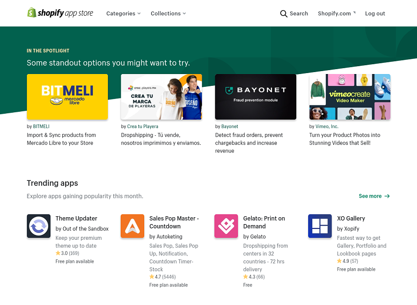 shopify's-app-store