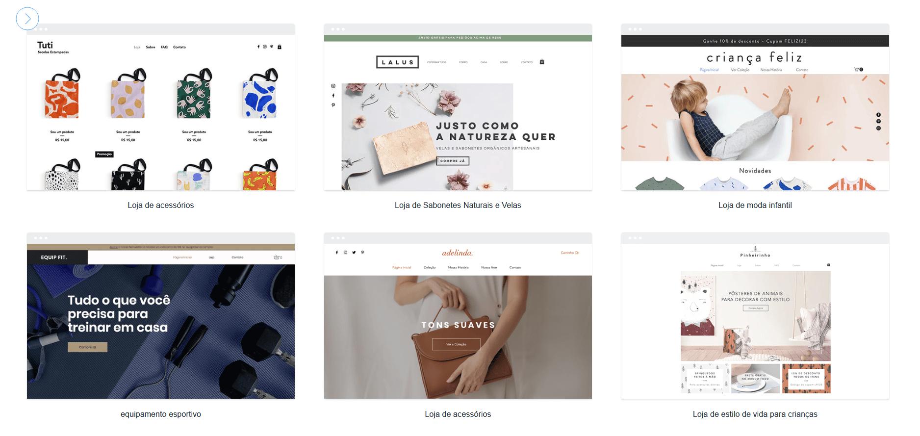 5 melhores criadores de sites para e-commerce e lojas online