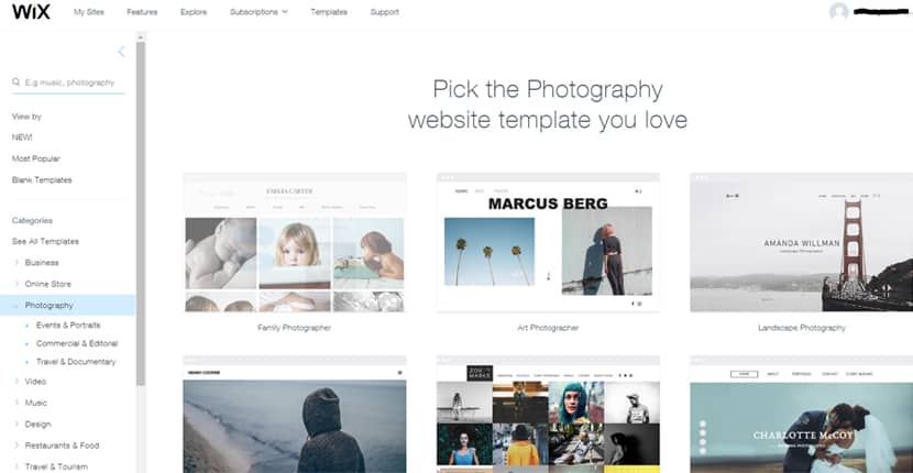 How to Build a Wix Website to Showcase Your Photography
