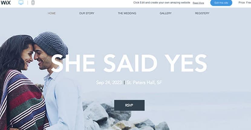 Como criar um site no Wix para anúncios de casamento