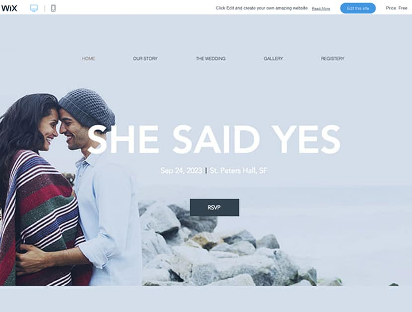 How to Build a Wix Website for Wedding Announcements