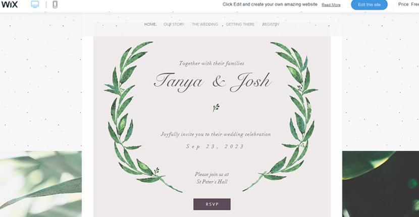 Как создать сайт свадебного приглашения на Wix
