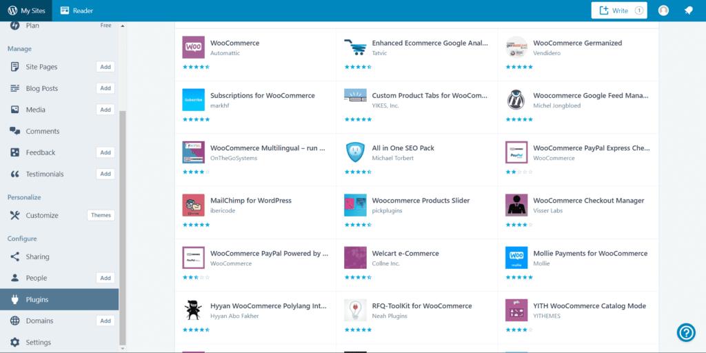 Os melhores construtores de sites para sites de comércio eletrônico