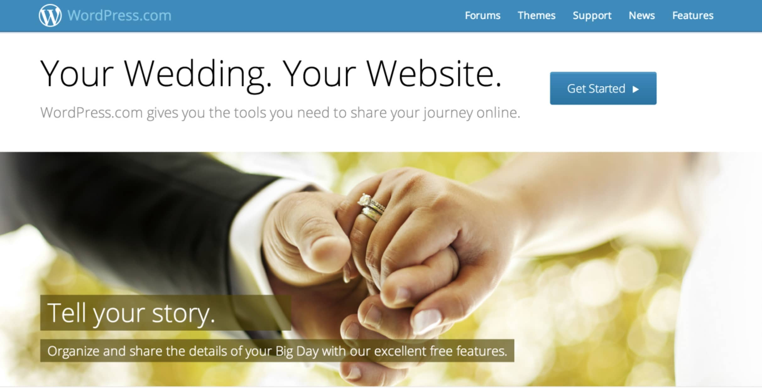 WordPress.com wedding website builder