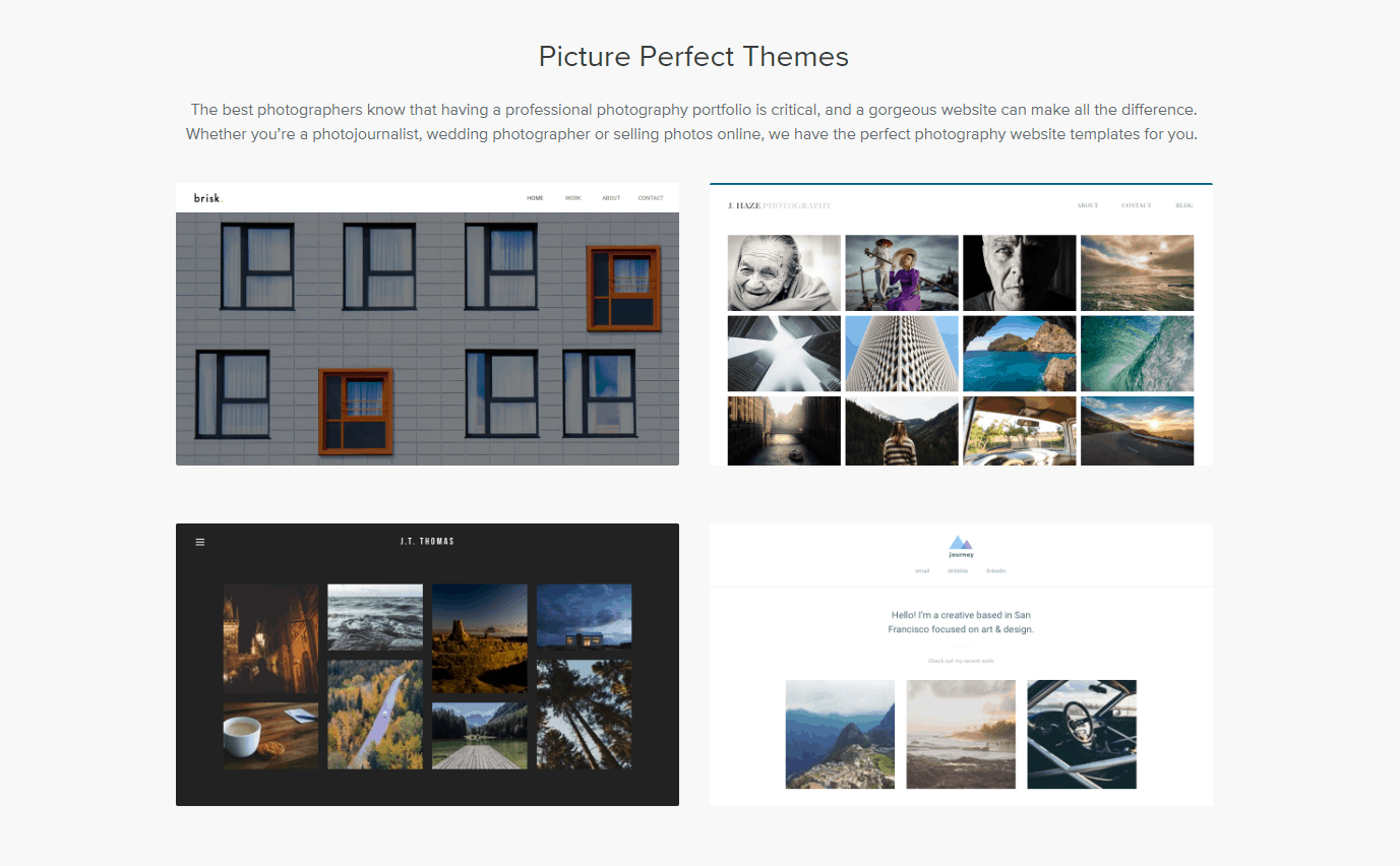 Weebly photography themes