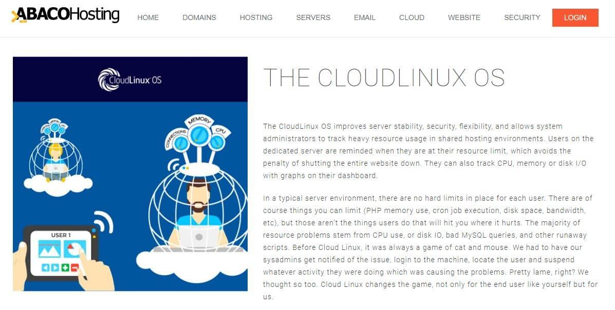Abaco Hosting Cloudlinux OS