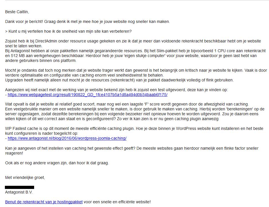 Antagonist Klantenservice Website Optimaliseren