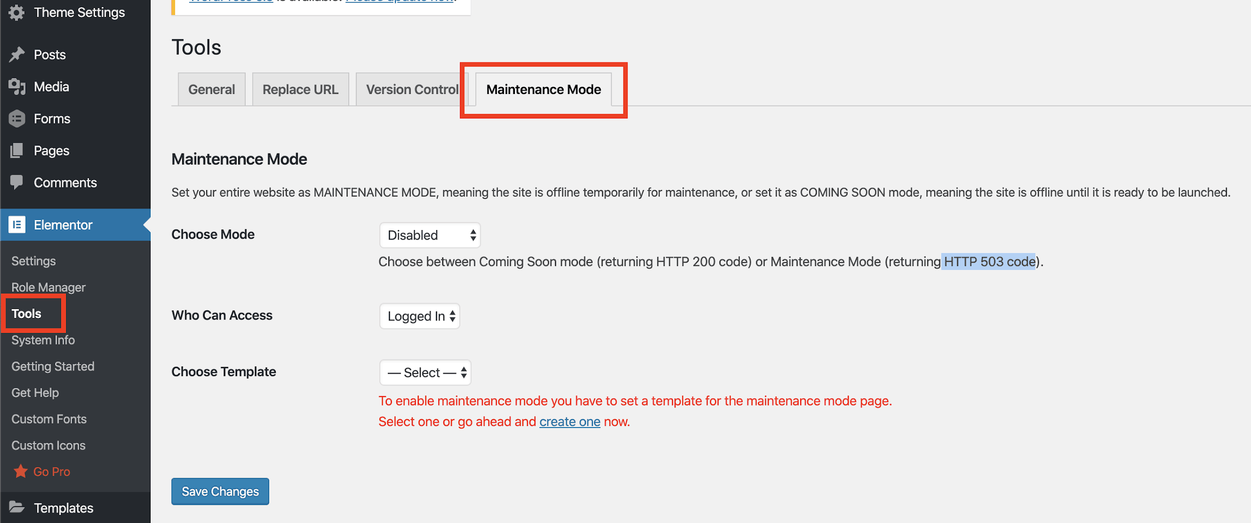 Switching your WordPress site to Maintenance Mode using Elementor