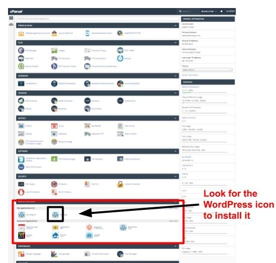 A lot of the icons in cPanel can be ignored