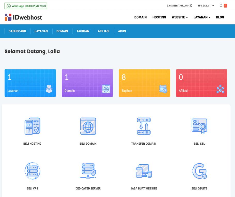 Member area IDwebhost