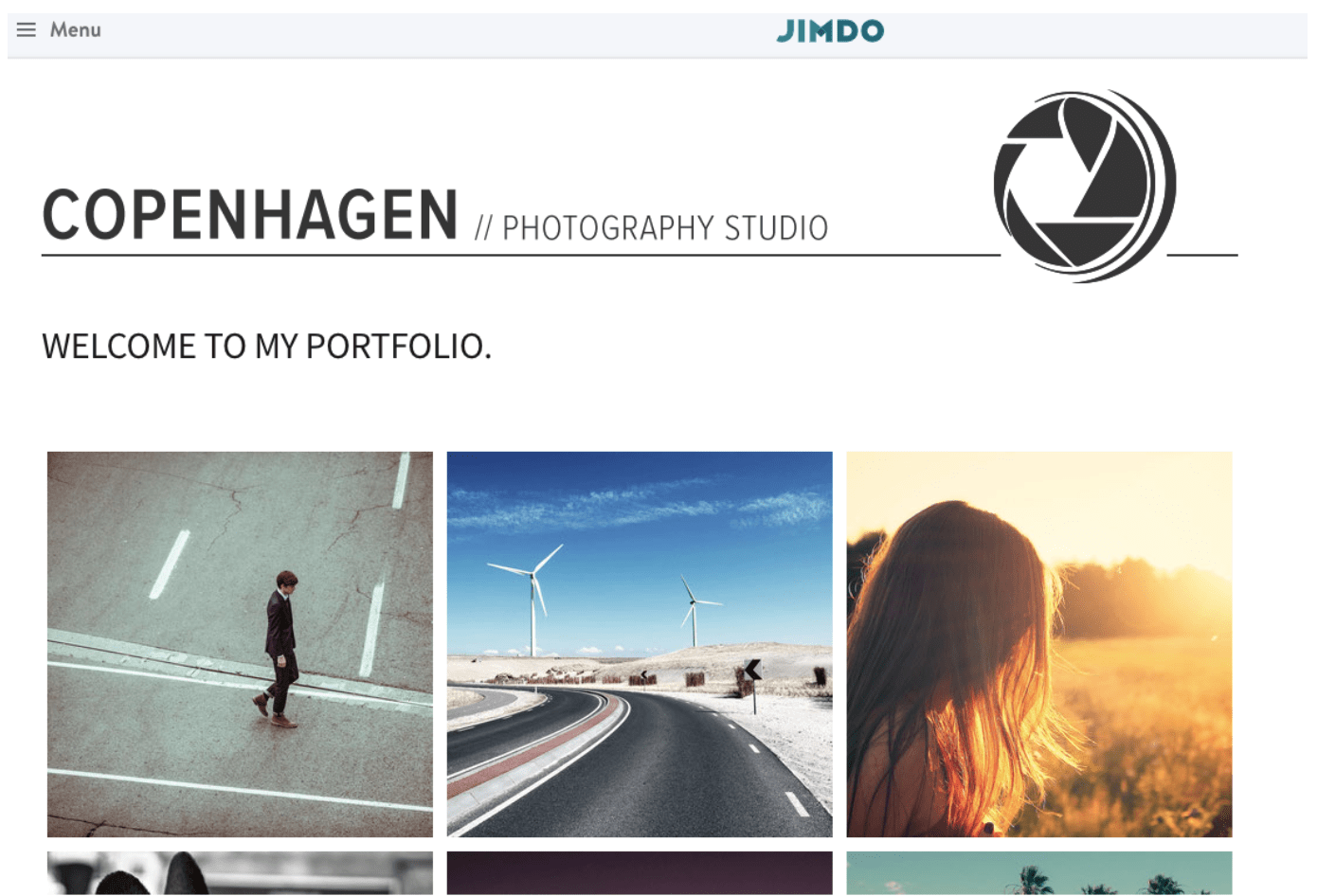 Jimdo template for photographers