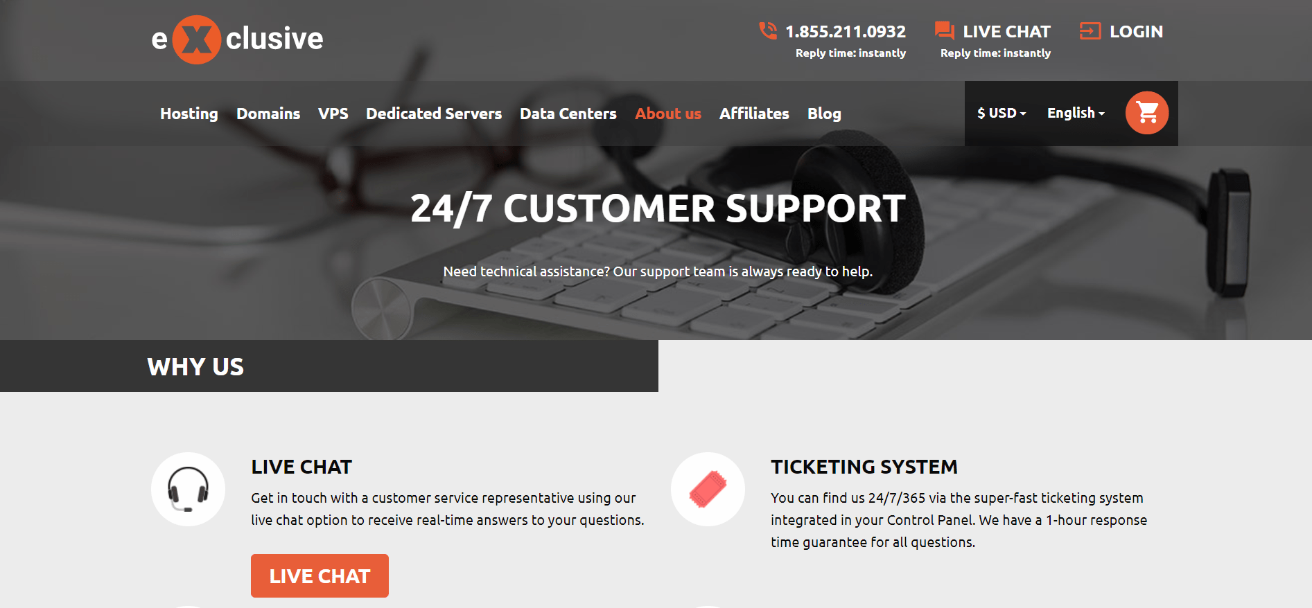 Exclusive-Hosting-support
