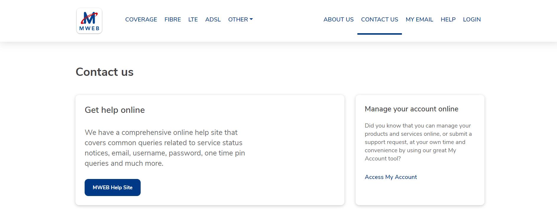 Mweb-support