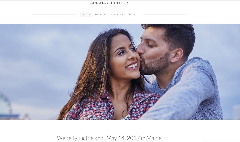 Weebly Ariana & Hunter wedding theme