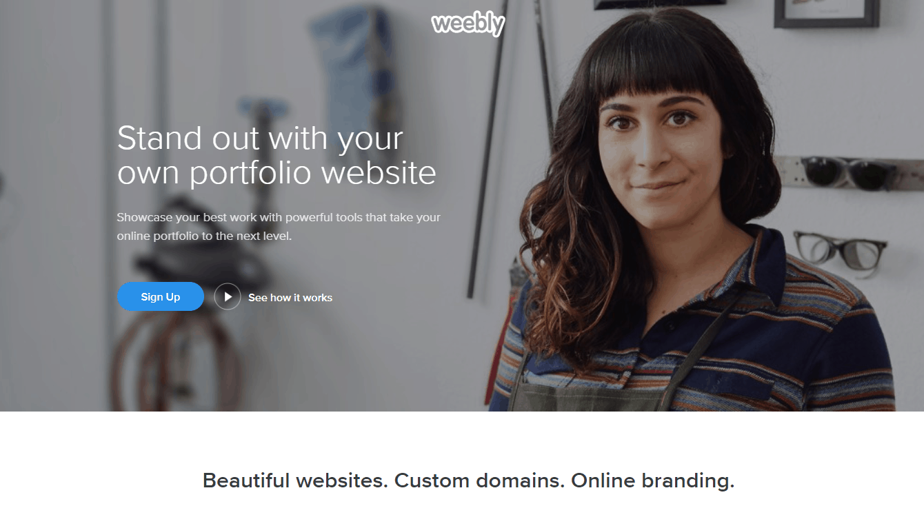 Weebly portfolio builder