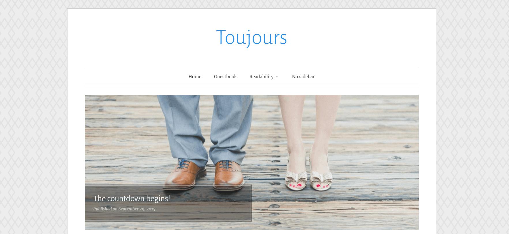 WordPress Toujours wedding theme