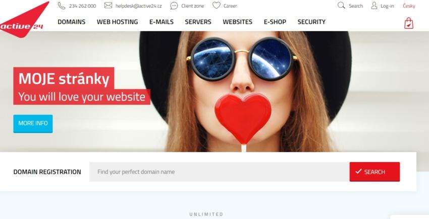 active24 přehled českých poskytovalů webhostingů