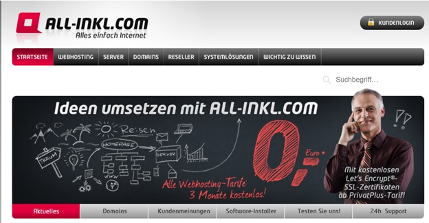 ALL-INKL.COM Main page