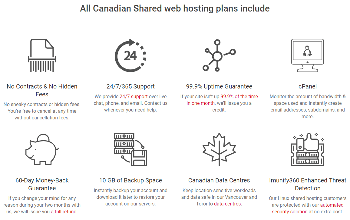 Canadian-Web-Hosting-features