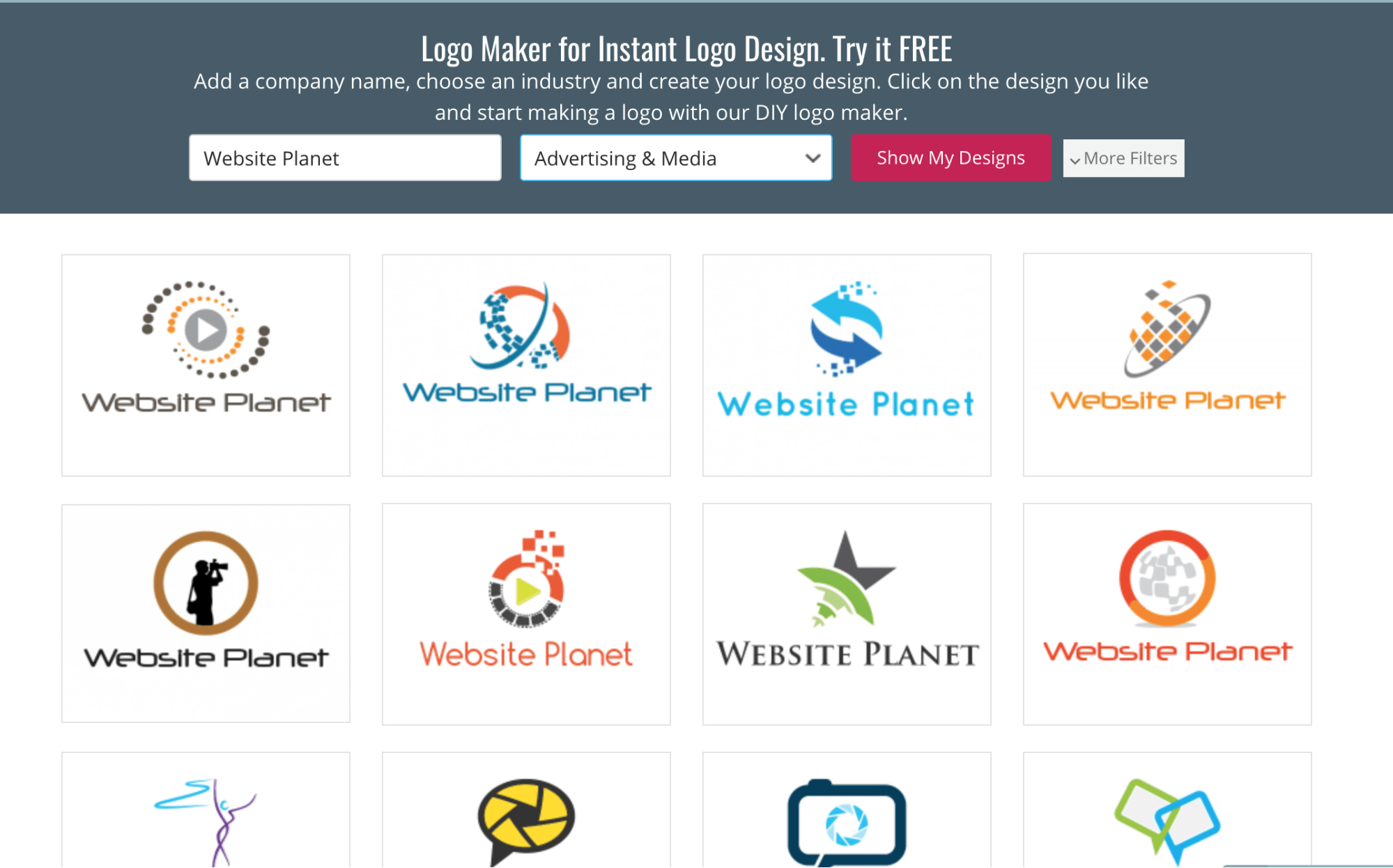 Best DIY Logo Makers Free To Try Website Planet - Generic company logo free
