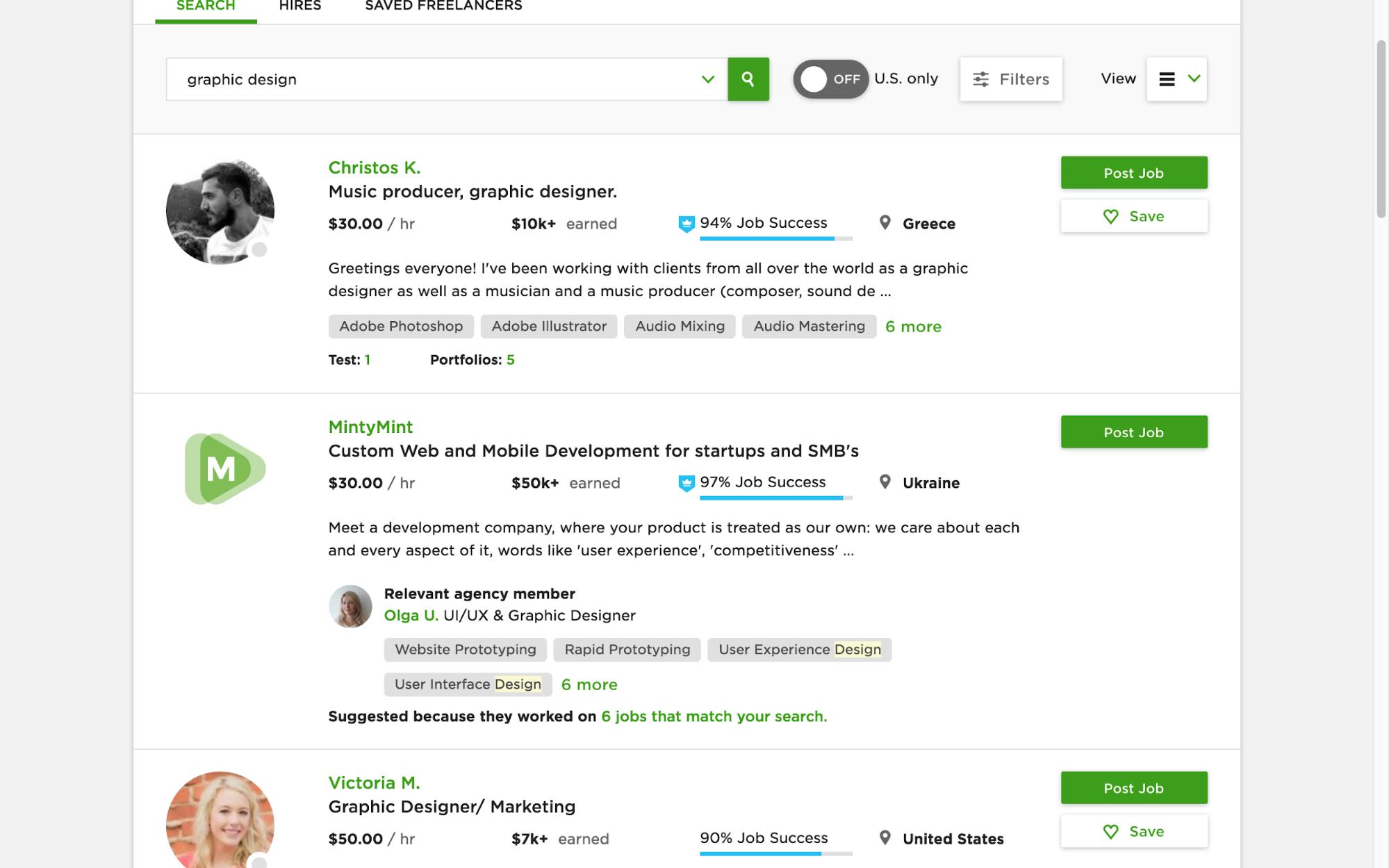 Voici les 5 meilleurs sites web d'indépendants pour embaucher des graphistes